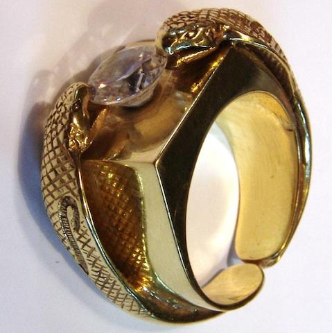 prsten hadi 3 kobry obdelnik šperky prsteny pánské